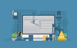 Website in aanbouw illustratie vector
