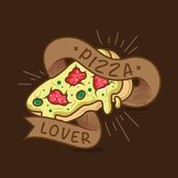 Pizza minnaar typografie illustratie vector