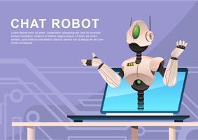 chat ai robot vector