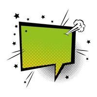 tekstballon groene kleur pop-art stijl