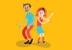 vrolijke dansende kinderen vector