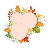 frame met herfstbladeren decoratie