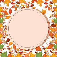 cirkelvormig frame met herfstbladeren