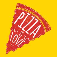 Pizza is liefde vector