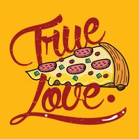 ware liefdes pizza vector