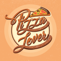 Pizza Minnaar Typografie vector
