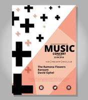 Abstract concert poster sjabloon vector