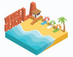 Isometrisch Venice Beach Los Angeles vector