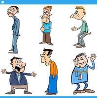 mannen tekens instellen cartoon afbeelding