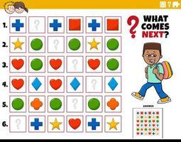 vul de patroon educatieve taak voor kinderen