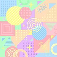 Kleurrijke Pastel Memphis achtergrond vector