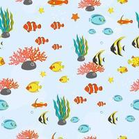 naadloze patroon met onderwater concept