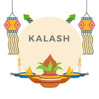 Platte Kalash vectorillustratie