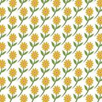 naadloze patroon van zonnebloemen