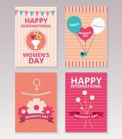 Internationale Vrouwendagkaarten vector