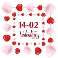 gelukkige Valentijnsdag wenskaart ontwerp