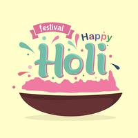 Gelukkig Holi-festival vector