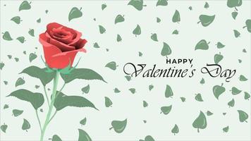 gelukkige valentijnsdag achtergrond met realistische roze bloem ontwerpobjecten
