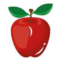 appel vers fruit geïsoleerde pictogram