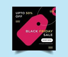 zwarte vrijdag sociale media verkoop postontwerp