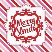 vrolijk kerstfeest sierlijke frame achtergrond