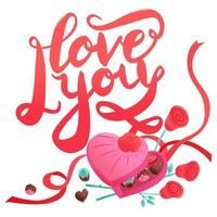 zoete valentijnsdag snoepjes chocolaatjes hart love box