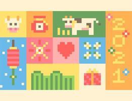 Poster met pixelconcept voor 2021.