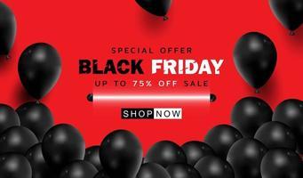 zwarte vrijdag achtergrond of speciale aanbieding promotie verkoop banner voor zaken en reclameaffiche
