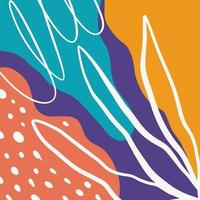 abstracte achtergrond met verschillende vormen en texturen en kleuren vector