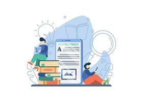 online bibliotheek concept vector