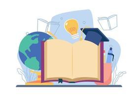 studie literatuur concept vector