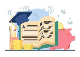 studiebeurs onderwijs concept vector