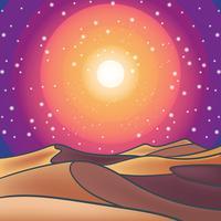 Woestijn landschap illustratie vector