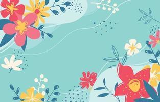 bloemen lente achtergrond vector