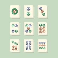 mahjong past bij puntentegels vector