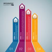 Verticale zakelijke pijl Infographic sjablonen