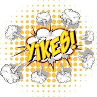 komische tekstballon met yikes-tekst vector