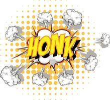 komische tekstballon met honk-tekst vector