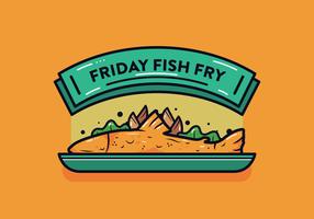 Friday Fish Fry Vector