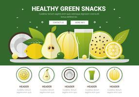 Diverse vruchten vector achtergrond