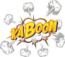 komische tekstballon met kaboom-tekst vector