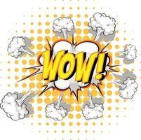 komische tekstballon met wow-tekst vector