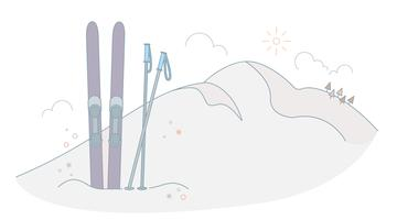Ski uitrusting Vector