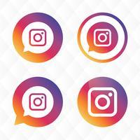 Instagram pictogram vector