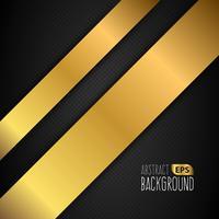 Zwart en goud bekleed achtergrond vector