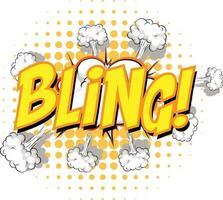 komische tekstballon met bling-tekst vector