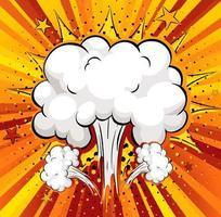 lege boom komische tekstballon vector