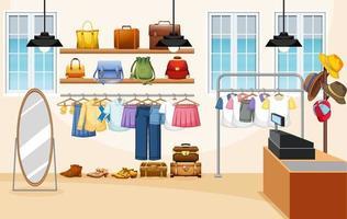 mode kleding winkel achtergrond vector