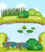 lege scène met moeras in natuurlandschap vector