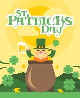 St Patricks Day vlakke afbeelding vector